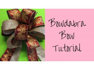 Learn To Make Ribbon Bows Like Professional Decorators With Bowdabra | Bowdabra Tutorials For Gorgeous Bows & Wreaths