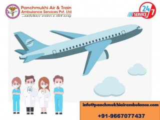 Avail Well Medically Fascinated Air Ambulance Service in Bagdogra