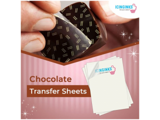 Best Chocolate Transfer Paper Available Online   Icinginks Edible Transfer Sheets to Decorate All Chocolate Surfaces