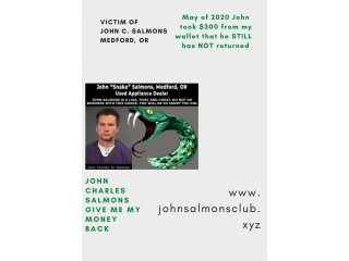Appliance Fraudulent of  Johnny Snake Salmons