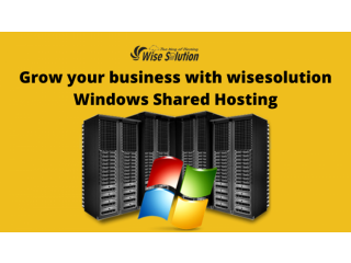 Grow your business with wisesolution Windows Shared Hosting