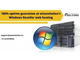 100% uptime guarantee at wisesolution's windows reseller web hosting