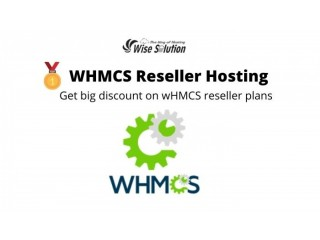 Buy WHMCS reseller hosting at big discount price on Wisesolution