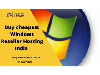 Buy the cheapest windows reseller hosting India at Wisesolution