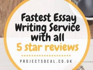 No.1 Fastest Dissertation / Essay Writing for 100% Grades